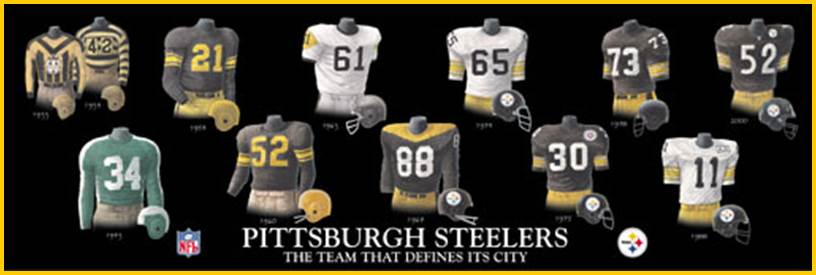 Here then is the history of the Steelers  Uniforms … ed9655078